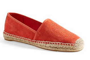 Tory Burch 'Kirby' Suede Logo Espadrille