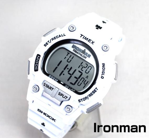 "$16.84 Timex Men's T5K429 ""Ironman"" Watch with White Resin Band"