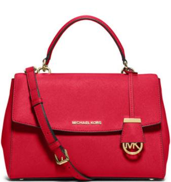 $238 MICHAEL Michael Kors Ava Medium Saffiano Satchel Bag, Chili @ Neiman Marcus