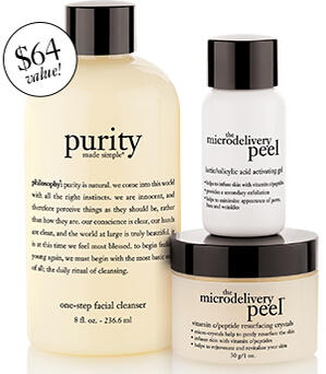 Get Free Purity & Microdelivery Set ($64 Value) with Philosophy Renew Hope or Ultimate Miracle Worker Purchase @ Philosophy