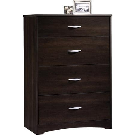 Sauder Beginnings 4-Drawer Dresser, Cinnamon Cherry