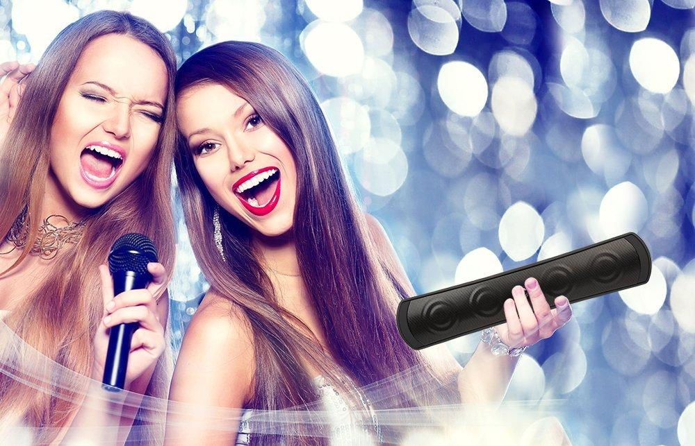 Baytek PartyMix Portable Bluetooth/NFC Speaker with Built-in Microphone and Easy Sync