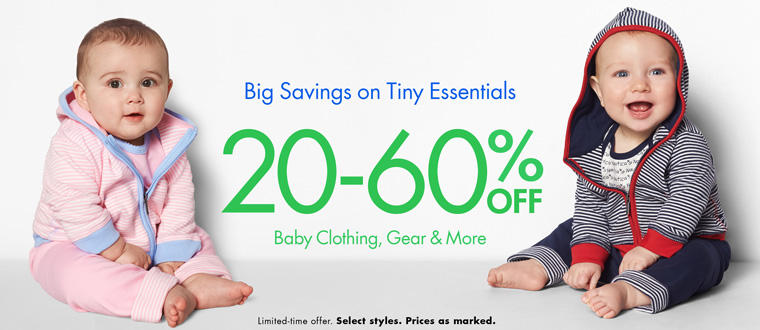 Up to 60% Off Baby Gear, Clothing & More @ Amazon