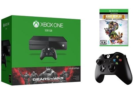$379.99 Xbox One 500 GB System Bundle - Includes Gears of War, plus Rare Replay and extra controller