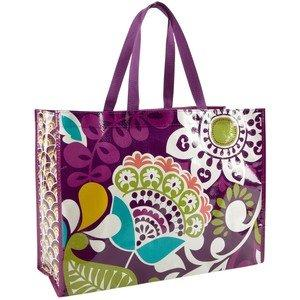 Vera Bradley Market Tote Bag in Plum Crazy