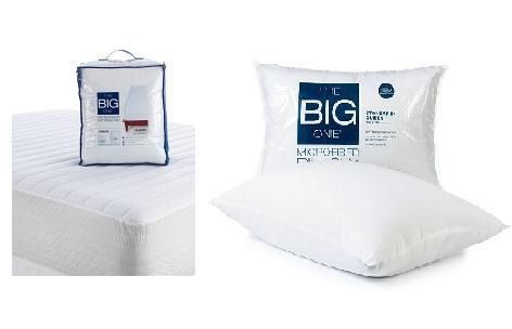 The Big One Microfiber Deep-Pocket Mattress Pad (Queen) + The Big One Microfiber Pillow