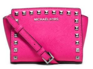 MICHAEL Michael Kors Selma Mini Studded Leather Crossbody