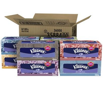 3x 8-Pack of 120-Count Kleenex Ultra Soft 3-Ply Facial Tissues