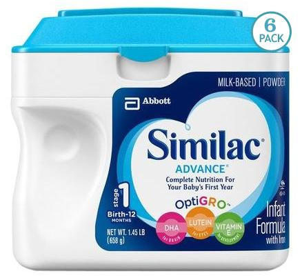 Similac Advance Baby Formula, 6 Pack
