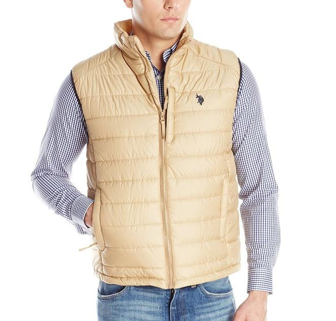 U.S. Polo Assn. Men's Small Channel Quilt Puffer Vest