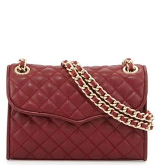Rebecca Minkoff Mini Affair Quilted Crossbody Bag, Merlot @ Neiman Marcus