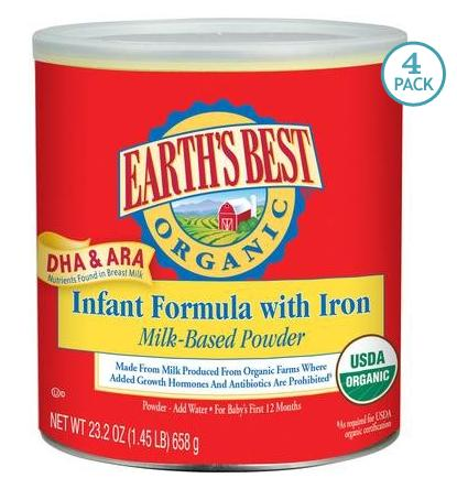 Earth's Best Dairy Baby Formula-4 Pack