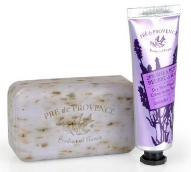 Pre de Provence Perfect Gift Set, Shea Butter Enriched Everyday Essential 150 Gram Soap and 1 Ounce Hand Cream - Lavender