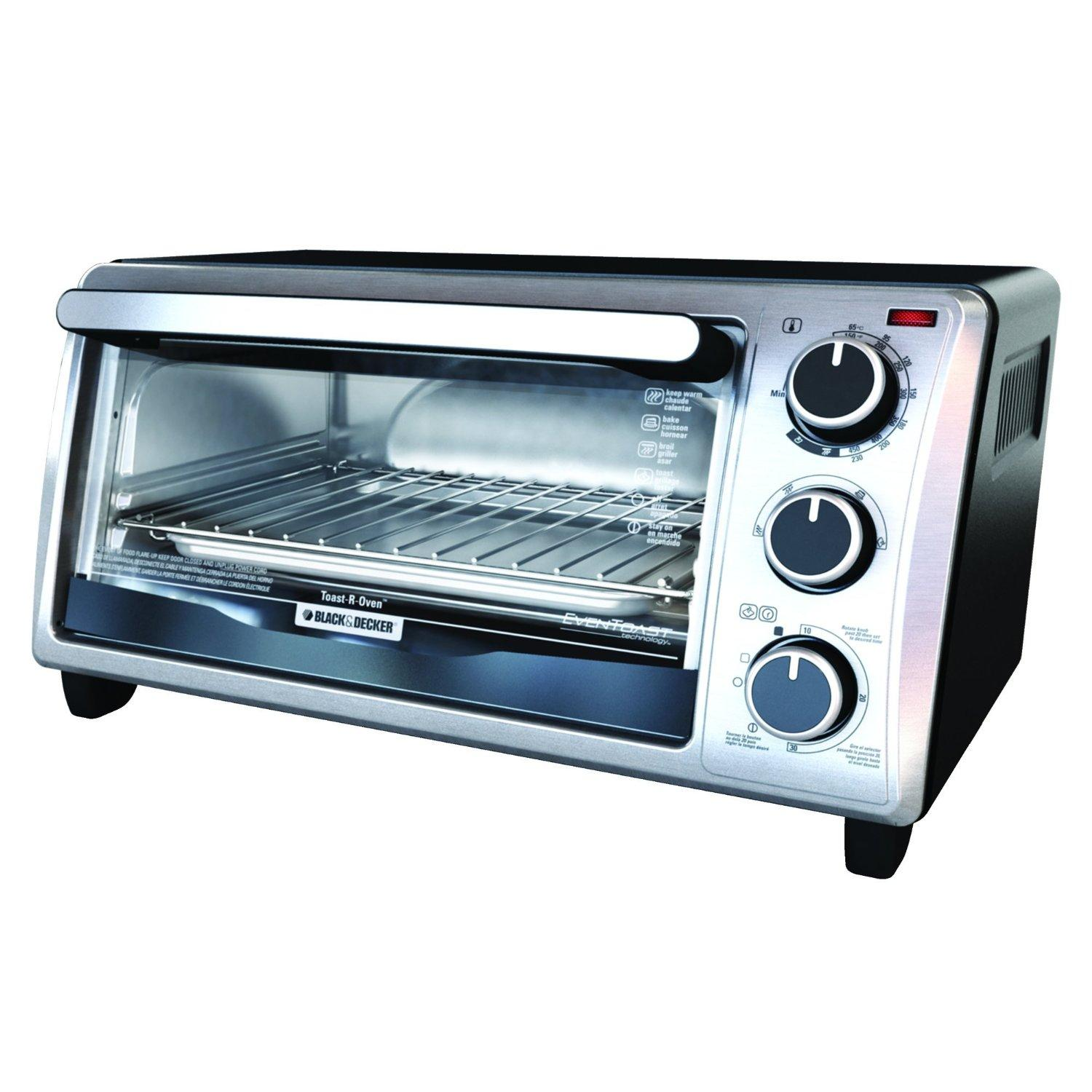 #1 Best Seller! Black & Decker TO1303SB 4-Slice Toaster Oven