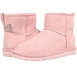 From $99.99 UGG Australia Classic Mini Crystal Bow Genuine Shearling Lined Boot