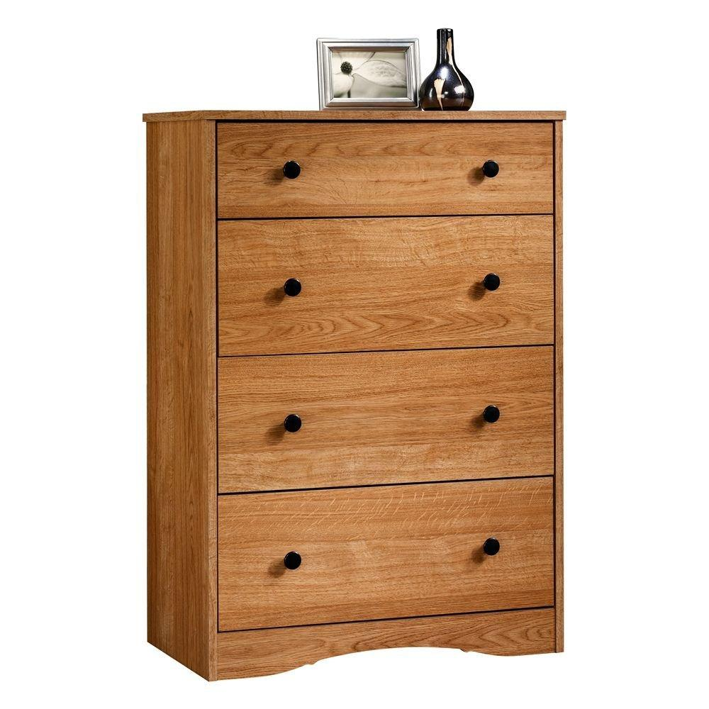 Sauder Beginnings 4 Drawer Chest, Highland Oak