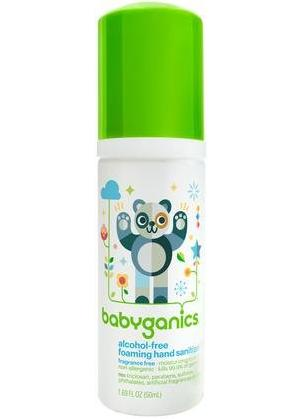 Babyganics Alcohol-Free Foaming Hand Sanitizer - Fragrance Free - 1.69 oz