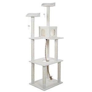 PAW Sleep and Play Cat Toy Tree, 6', Ivory