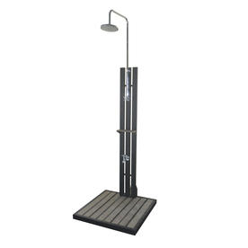 allen + roth Silver/Black Outdoor Shower