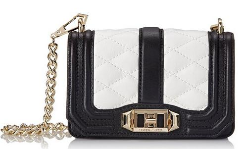 Rebecca Minkoff Mini Love Cross-Body Bag, Black/White