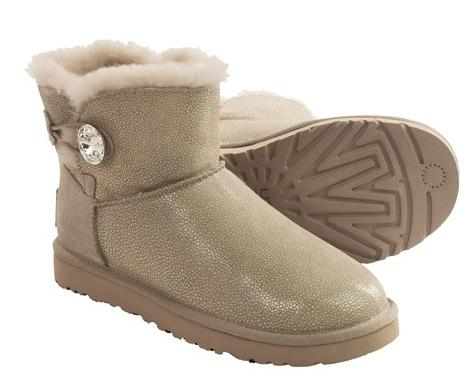UGG® Australia Bling Sting Boots - Suede, Sheepskin Lining (For Women)