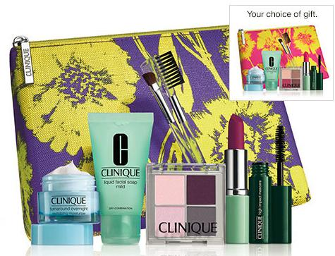 Free 7-piece gift with any Clinique purchase of $27 or more @ Boscovs