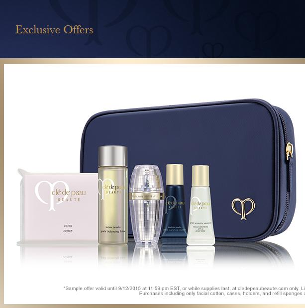 6 piece beauty bonus with any $300 order @ Cle de Peau Beaute