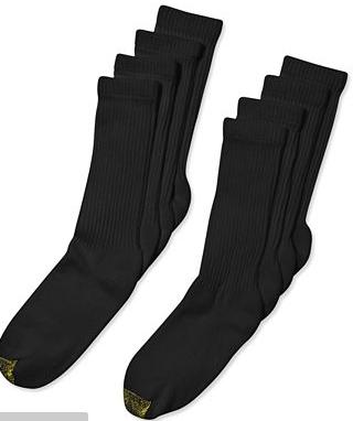 16 Pack Gold Toe Men's Classic 6-Pack Crew Athletic Socks
