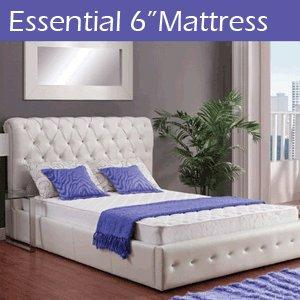 Signature Sleep Essential 6 Inch Full Size Mattress, White