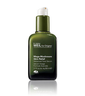 Pick Free 3 Mask Minis + Facial Brush with Dr. Andrew Weil Mega-Mushroom Skin Relief Advanced Face Serum Purchase @ Origins