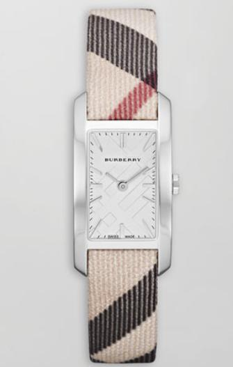 Burberry  Check-Strap Rectangular Watch