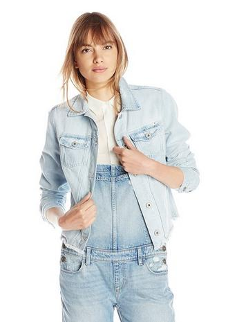 From $24.43 Lucky Brand Women's Bleach Cut Off Jacket