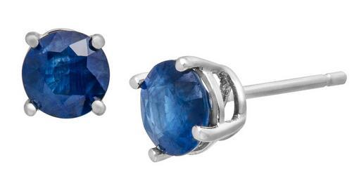 1 1/3 ct Kanchanaburi Sapphire Stud Earrings