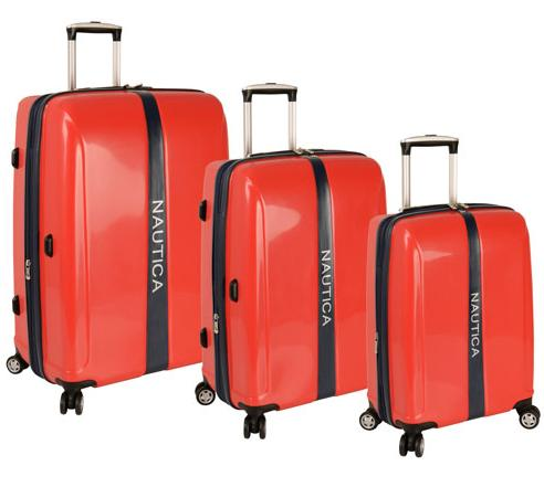 Nautica Landfall 3 Piece Hardside Spinner  Luggage Set