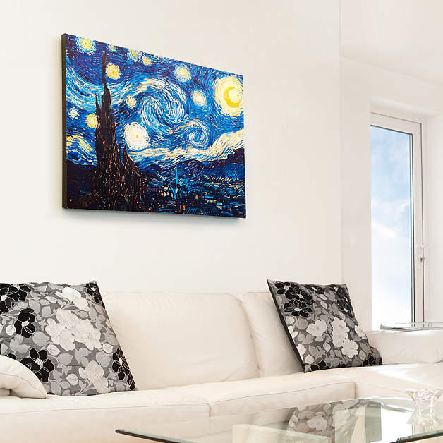 Wieco Art Canvas Prints for Van Gogh Artwork Reproductions Starry Night Modern Wall Art for Home Decoration 12 by 16inch