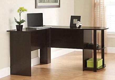 0 L-Shaped Desk with Side Storage @ Walmart.com