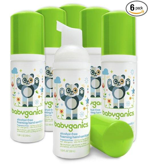 Babyganics Alcohol-Free Foaming Hand Sanitizer Fragrance Free (Pack of 6)