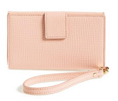 Halogen® Leather Tech Wristlet