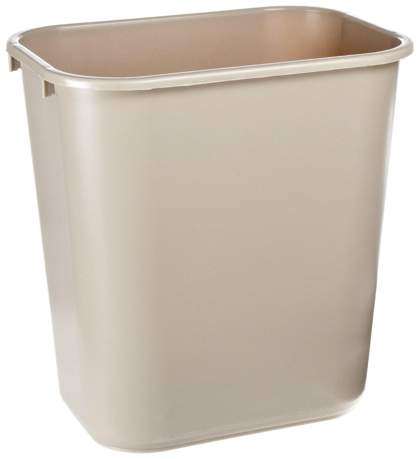 $4.12 Rubbermaid Commercial Plastic 7-Gallon Trash Can, Beige