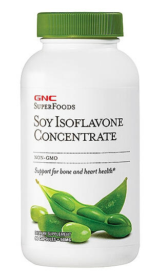 2 For $16.99 GNC SuperFoods Soy Isoflavone Concentrate 90 Capsules