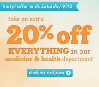 20% OFF Medicine and Health @ Drugstore