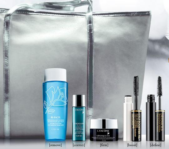 5 Travel-size Eye Essentials + Free shipping with Any Order over $35 @ Lancome