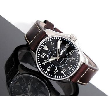 Hamilton Khaki Aviation Pilot Black Dial Men's Watch H64611535