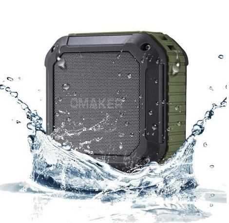 Omaker M4 Square Shockproof & Splashproof Bluetooth Portable Speaker with NFC (Green)