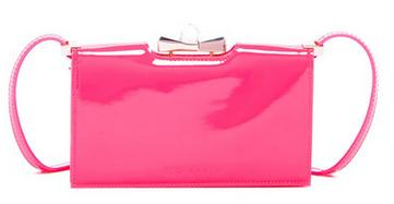 Ted Baker London Tally Patent Crystal Bow Leather Crossbody Wallet