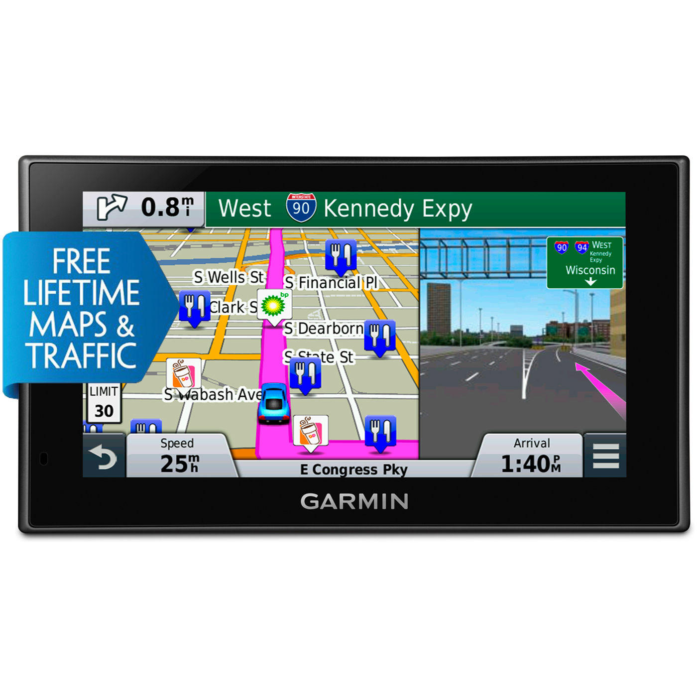 $137.49 Garmin nuvi 2699LMT HD 6'' GPS w/ Lifetime Maps & Traffic (Refurbished)