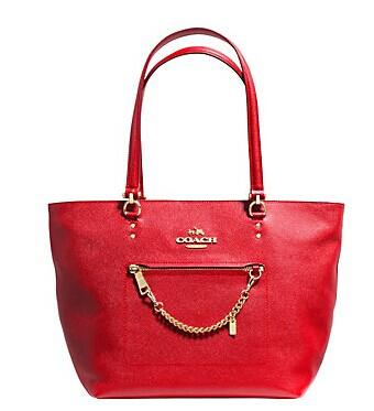 COACH  TOWN CAR TOTE IN CROSSGRAIN LEATHER @ Lord & Taylor