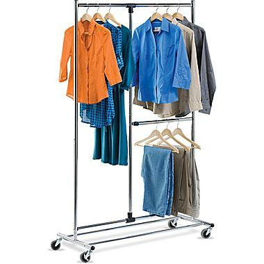 Honey-Can-Do International GAR-01702 Dual Bar Adjustable Garment Rack