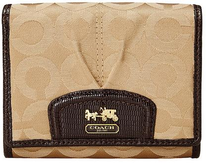 COACH Madison Op Art Sateen Compact Clutch