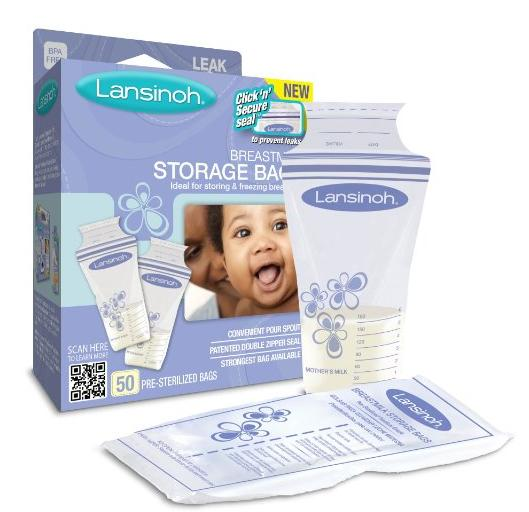 Lansinoh Breast Milk Storage Bags, 50 Count